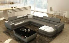 Wohnlandschaft Designer Sofa BergaG Couch Big Polster Leder Sofas Eck Ecke Sitz