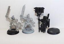 Warhammer 40k Astra militarum Imperial guard Cadian teniente x2 & inquisidor