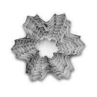9in1 Stainless Steel Snowflake Cookie Cutter Molds Set Christmas Cake Decor Tool