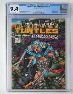 Teenage Mutant Ninja Turtles #8 1986 - CGC 9.4 - White Pages - Mirage Studios
