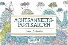 Achtsamkeits-Postkarten zum Ausmalen von Emma Farrarons (Taschenbuch) UNGENUTZT