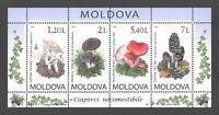 Moldova 2010 Mushrooms 4 MNH stamps Block