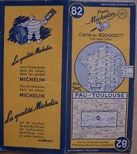 carte MICHELIN 82 PAU - TOULOUSE 1951 (modèle 2)