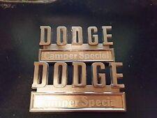 1970 - 1971 Dodge pickup camper special trunk script emblem nameplate original
