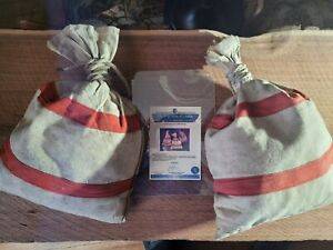"Clive Cussler ""Sahara"" movie prop money bags with COA"