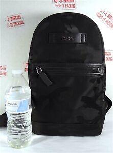 Michael Kors Men's Kent Black Camo Nylon Slingpack Backpack