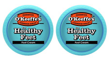 O'Keeffe's Healthy Feet Foot Cream, 3.2 ounce Jar, Pack of 2