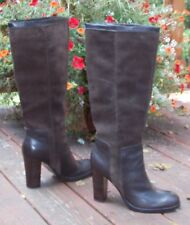 Nine West Emilio Brown Leather and Suede Boots Platform Size 10 - Worn 1 time