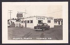 Circa 1950 Real Photo Postcard McKay's Cabins & Diner PENFIELD New Brunswick
