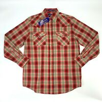 Pendleton Frontier Shirt Mens Size S Snap Button Up Casual Plaid Long Sleeve New