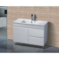 Bathroom Vanity Storage Cabinet Single Bowl Ceramic Basin Unit Wall Hung 900x460