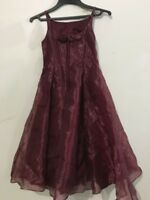 Jessica McClintock Burgundy Flower Girls Size 7 Formal Wedding Stylish RN#49422