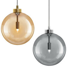 Vintage Smoked Gold Glass Shade Pendant Ceiling Chandelier Home Pub Diner Globes