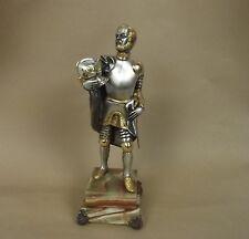 Gippe Vasari Hero serie Cavaliere Argento e Oro Bronzo Figurina