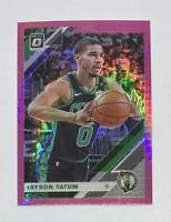 Jayson Tatum 2019-20 Donruss Optic Pink Hyper Prizm Card #82 Boston Celtics