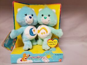 Care Bears 2002 Cuddle Pairs Bedtime Bear & Wish Bear New in Box Smoke Free Home
