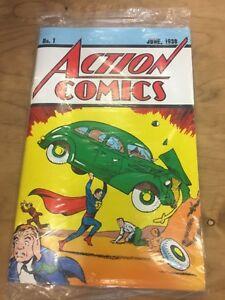 ACTION COMICS #1 Reprint, LOOT CRATE VARIANT EDITION w COA, DC COMICS, SUPERMAN