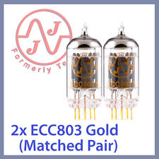 2x JJ Tesla ECC803S 12AX7 ECC803 Gold Pin Long Plate, Matched Pair