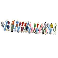 50pcs Hand Painted Model Train Diorama Standing People Figures Scale HO 1-87