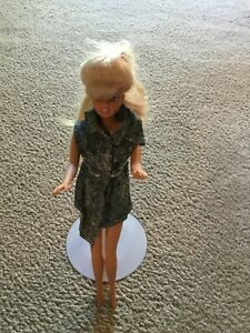 Barbie Doll Clone Let's Talk 1992 Toy Island Battery Operated Acid Wash Denim