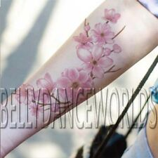 CHERRY BLOSSOM FLOWER BRANCH PINK FLORAL TEMPORARY TATTOO WATERPROOF STICKER NEW