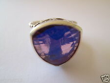 GORGEOUS SAJEN STERLING SILVER PURPLE MYSTIC TOPAZ RING ADJUSTABLE 9