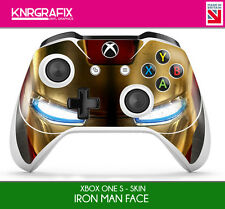 KNR6638 PREMIUM XBOX ONE S CONTROLLER IRON MAN FACE SKIN STICKER