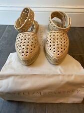 Womens Stella McCartney espadrilles Sandals Shoes size EU 38/ U.S. 8 Beige