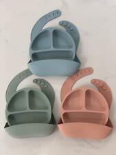Beautiful Silicone Baby Bib With Matching Plate
