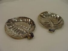 International Silver Company Silver Plated Leaf Dishes (Set of 2)