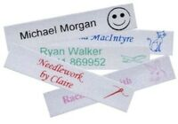 100 SATIN Iron-on School Name Tapes Name Tags Labels