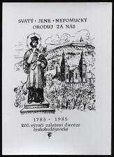 """santino-holy card""""""""S.GIOVANNI NEPOMUCENO"""