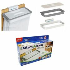 Attach-A-Trash Hanging Trash Bag Holder For Home Kitchen Waste Dirt Rubbish Bin