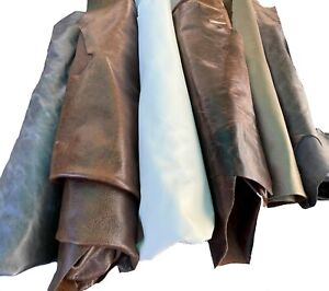 Leather Half Hides - various colors and sizes.  At least 15 SQ - 5' x 3'
