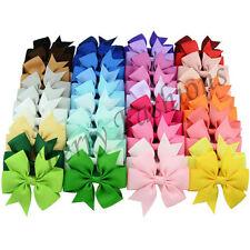 40 x handmade fiocco capelli clip Alligator Clip Ragazze Bambini NASTRO lati Accessori