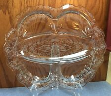 Vintage Cambridge Etched Diane #752 Glass Stunning 5 Section Serving Plate 12.5""