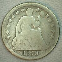 1850 US Half Dime Silver Seated Liberty Type Coin Good H10C