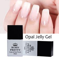 10ml Nail Art Opal Jelly Gel White Soak Off UV Gel Polish Varnish BORN PRETTY