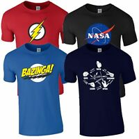 Bazinga Flash Nasa Rock Paper Scissors T Shirt Big Bang Theory Mens Kids Top
