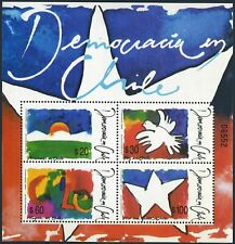 Chile 889a sheet,MNH.Michel Bl.14. Democracy in chile,1990