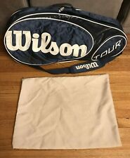 Wilson Tour V Blue 6 Pack Tennis Racquet Bag With Ball Bag Included
