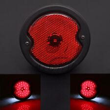 Motorcycle 12V Round LED Red Rear Tail Brake Stop Light Lamp Universal