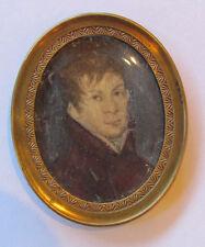 Antique German Portrait Miniature Circa 1810