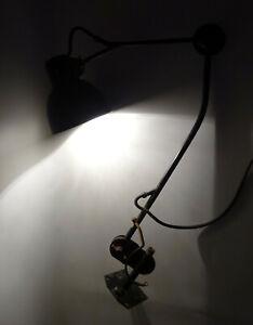 Vintage Reif Gelenkarmlampe Werkstattlampe Leuchte Industrie Design Loft lamp !