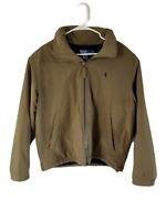 Polo Ralph Lauren Full Zip Men's Jacket L Fleece Lined Pockets Olive Heavy