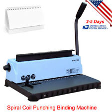 All Steel Metal Spiral Coil 34 Holes Manual Punching Binding Machine 4x4mm Hole