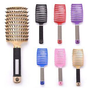 Girls Hair Scalp Massage Comb Hairbrush Bristle Nylon Wet Detangle Hair Brush