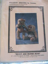 TEDDY BEARS Mr & Mrs PRESENT DREAMS *RARE OOP 1982 cloth art doll pattern USA