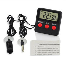 1 Set of Pet Reptile Thermometer Hygrometer for Lizard Gecko Snake Turtle withou