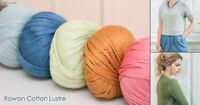 ROWAN Cotton Lustre - 50g Balls - 80M Length - £5.99 - Free P&P